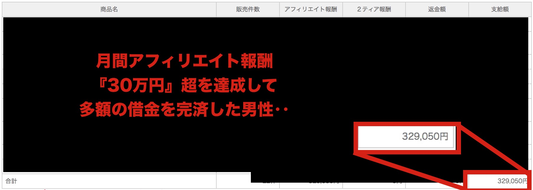 (毎月30万円を超えるアフィリエイト報酬を達成‥)