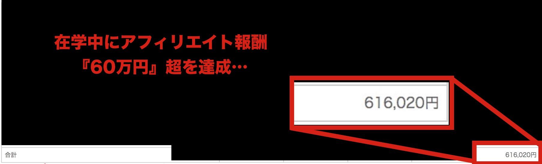 (毎月60万円を超えるアフィリエイト報酬を達成‥)